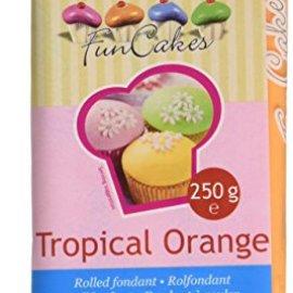 FunCakes Pasta di Zucchero Arancione Tropicale 4 x 250gr