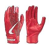 Nike Adult Force Edge Batting Gloves (University Red, Large)