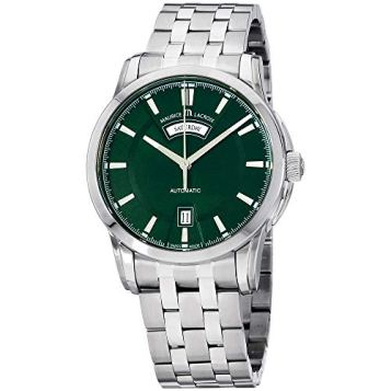 Maurice Lacroix Pontos Automatic Movement Green Dial Men's Watch PT6158-SS002-63E-1