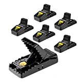 ESENVIS Mouse Trap, Mice Traps That Work Best Snap Traps for Small Mice and Mouse Outdoor Indoor Quick Kill and Reusable Mouse Traps 6 Pack