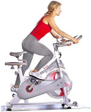 Sunny Health & Fitness Magnetic Belt Drive Premium Indoor Cycling Bike – SF-B1876