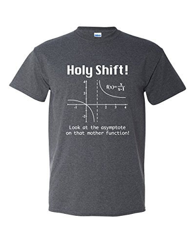 Thread Science Holy Shift Math Funny Calculus Physics Adult Mens Graphic Tee Pun Humor T-Shirt Heather Black (Medium)