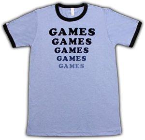 Amusement Park Games Games Games Light Blue T-Shirt Tee