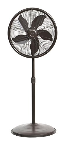 NewAir Outdoor Misting Fan Oscillating All Steel Construction Pedestal Fan with Five Gentle Mist Nozzles, AF-600