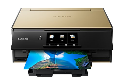 Canon TS9120 Wireless All-In-One Printer with Scanner and Copier: Mobile and Tablet Printing, with Airprint(TM) and Google Cloud Print compatible, Gold (2231C022)