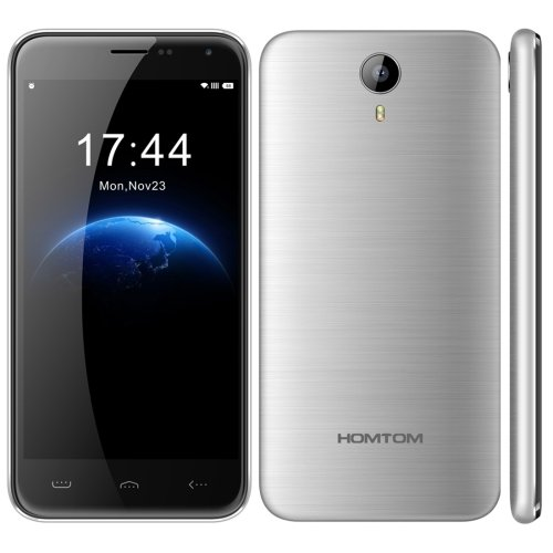 HOMTOM HT3 PRO 5.0 Inch Android 5.1 Smartphone, MTK6735P Quad Core 1.3GHz, 2GB RAM + 16GB ROM GSM & WCDMA & FDD-LTE (Silver)