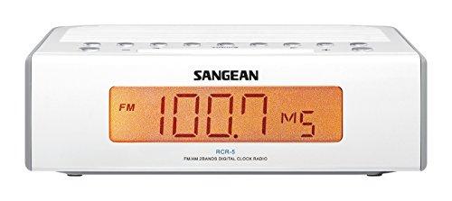 Sangean RCR-5 Digital AM/FM Clock Radio, White