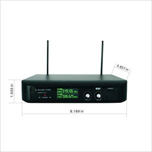 Sound-Town-SWM10-U2HH-Professional-Dual-Channel-UHF-Wireless-Microphone-System-with-2-Handheld-Mics-for-Church-Business-Meeting-Outdoor-Wedding-and-Karaoke