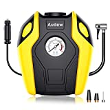 Audew Tire Inflator - 12V DC Tire Pump, 150 PSI Air Compressor for Car, Truck, Bicycle, RV and Other Inflatables