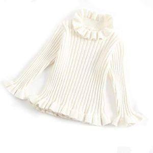 BCVHGD Kids Girls Knitted Sweater Autumn Winter Korean Cotton Long-Sleeved Girls Cashmere Baby Princess Tops Knit