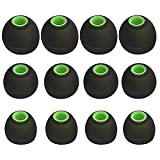 SUNMNS 6 Pairs Silicone Eartips Eargels Earpads Ear Tips Gels Bud for Senso Zeus Otium Hussar Mpow Sport Bluetooth Headphones (Green+Black)