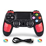 PS4 Controller DualShock 4 Wireless Controller for Playstation 4 - OUBANG PS4 Remote Control with Charging Cable,Best PS4 Game Joystick Gift for Christmas,Brithday (Ruby)