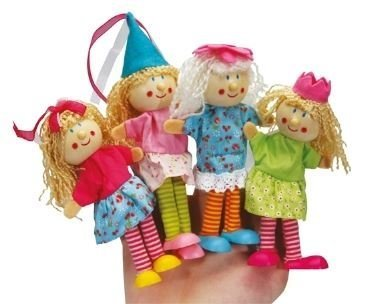 Wood Fairy Magical Woodland Finger Puppet Bright Colourful Novelty Girls Toy