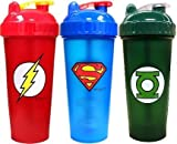 PerfectShaker Hero Series Shaker, Green Lantern, Superman, and Flash (800ml) Combo