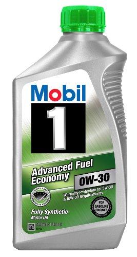 Mobil 1part No. 112746 (Advanced fuel economy) 0W-30 Motor Oil - 1 Quart (Pack of 6)