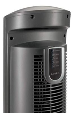 Lasko-Portable-Electric-42-Oscillating-Tower-Fan-with-Nighttime-Setting-Timer-and-Remote-Control-for-Indoor-Bedroom-and-Home-Office-Use-Silver-T42951