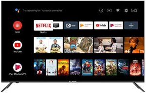 Konka 55-Inch Class U5 Series 4K Ultra HD Smart TV with Android TV and Voice Remote (55U55A, 2020 Model)
