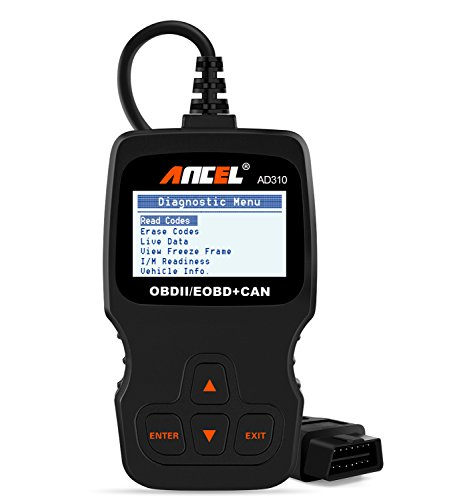 ANCEL AD310 Classic Enhanced Universal OBD II Scanner Car Engine Fault Code Reader CAN Diagnostic Scan Tool - Black