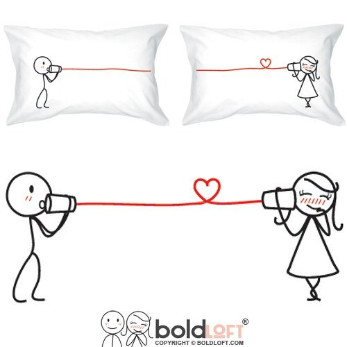BOLDLOFT Say I Love You Couples Pillowcases- Couples Gifts, Couple ...