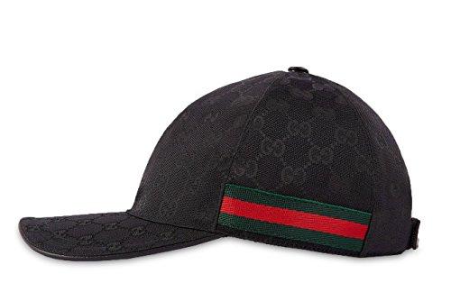 6c4592b4eee Gucci Original GG Canvas Baseball Hat With Web, Black (Nero) - Fashion