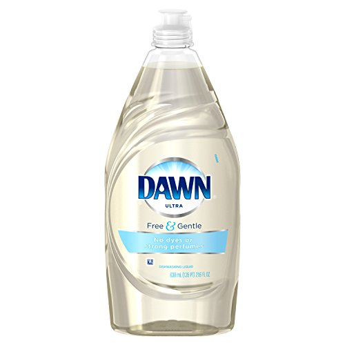 Dawn Free & Gentle Dishwashing Liquid Dish Soap, Sparkling Mist, 21.6 Oz (Pack of 2)