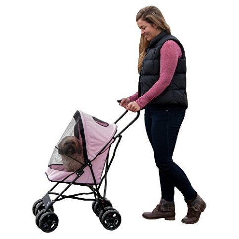 Pet-Gear-Ultra-Lite-Travel-Stroller-Compact-Large-Wheels-Lightweight-38-Tall
