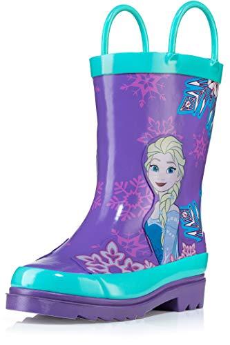 Disney Frozen Girls Anna and Elsa Pink Rain Boots - Size 11 Little Kid
