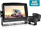 Fookoo Ⅱ HD Backup Camera System Kit,7''1080P Reversing Monitor+IP69 Waterproof Rear View Camera,Sharp CCD Chip, 100% Not Wash Up,Truck/Semi-Trailer/Box Truck/RV (FHD2-Wired)