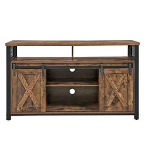 VASAGLE TV Stand for 55-inch TVs with Sliding Barn Doors, Entertainment Center and Media Console, TV Cabinet with…