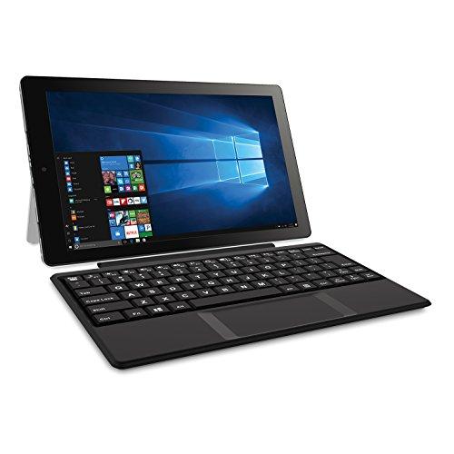 2018 RCA Cambio 2-in-1 10.1' Touchscreen Tablet PC, Intel Quad-Core Processor, 2GB RAM, 32GB SSD, Detachable Keyboard, Webcam, WIFI, Bluetooth, Windows 10, Black
