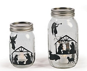 Christmas Holiday Nativity Mason Jar Decal Sticker Set - 24 Sheets