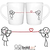 BOLDLOFT Say I Love Too Couples Coffee Mugs|Boyfriend Gifts for Anniversary Christmas Valentines Day|Husband Gifts from Wife|Couples Gifts|Engagement Gifts for Couples|Wedding Anniversary Gifts