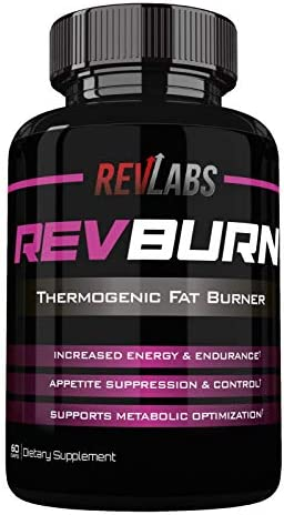 Rev Labs | Rev Burn | Thermogenic Fat Burner | The #1 Ground Breaking Fat Burning Amplifier Diet Pill for Men and Women, Carb Blocker & Appetite Suppressant, Weight Loss Pills, 60 Cap 1