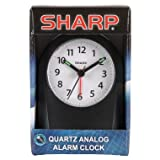Sharp Quartz Analog Alarm Clock