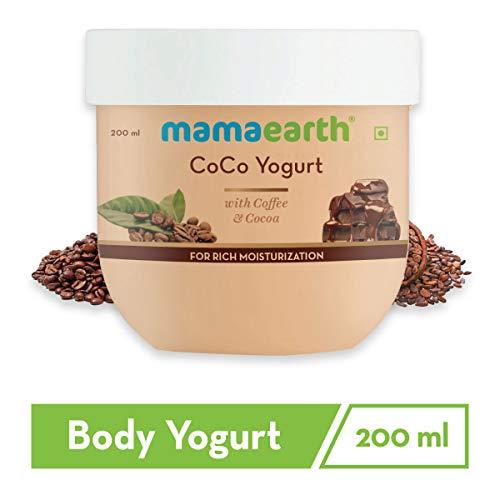 41eD6uFs4DL - Mamaearth CoCo Yogurt, lotion for woman, with Coffee and Cocoa for Rich Moisturization - 200 ml