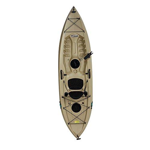 Lifetime Muskie Angler Sit-On-Top Kayak with Paddle, Tan, 120'