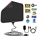 [2019 Latest] Amplified TV Antenna 60-85 Miles Range - HD Digital TV Antenna Support 4K 1080P & All TVs with Powerful Detachable Singal Amplifier -13.5ft Longer Coax Cable