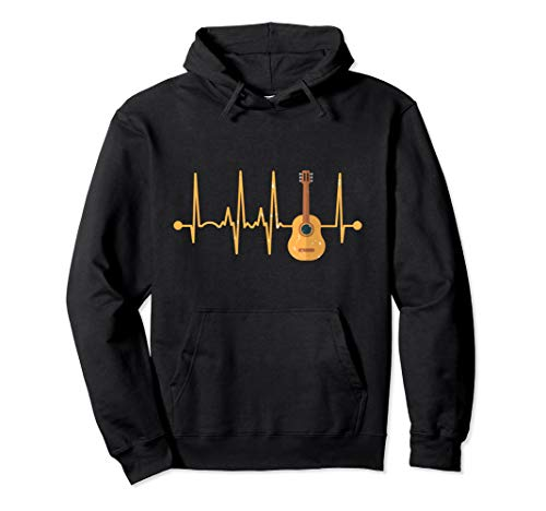 Acoustic Guitar Heartbeat - Guitars Acoustic Musician Pullover Hoodie