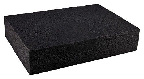 SRA Cases EN-AC-FG-A022-FOAM-CB Pre-Scored Foam Block Insert for EN-AC-FG-A022 Hard Case, 17.5″ x 12.5″ x 3.7″, Grey