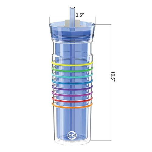 Zak-Designs-1503-R105-AMZ-HydraTrak-Tumblers-20oz-Periwinkle-Rainbow-20-wStraw