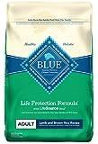 Blue Buffalo Life Protection Formula Adult Dog Food - Natural Dry Dog Food for Adult Dogs - Lamb and Brown Rice - 30 lb. Bag