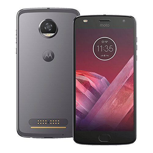 Motorola Moto Z2 Play (XT1710-09) 64GB Lunar Gray, 4GB RAM, Dual SIM (International Version - No Warranty)