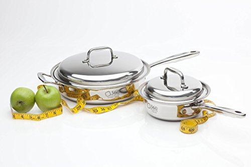 360 Stainless Steel Cookware Set, Handcrafted in the USA, Induction...
