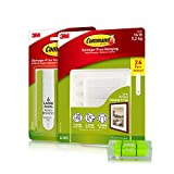Command Picture Hanging Kit| Damage-Free Hanging Strips & Leveler| Perfect for Hanging Small & Large Frames, Photos, Pictures on Walls & More| No Nail/Hook Damage| Easy Hanging (30 Pairs & Level)