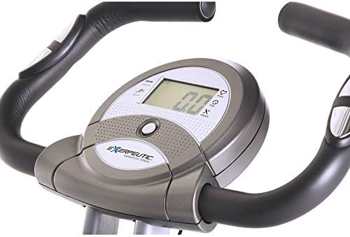 Exerpeutic Folding Magnetic Upright Exercise Bike with Pulse, 31.0' L x 19.0' W x 46.0' H (1200) 3