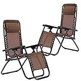 Zero Gravity Chairs Case Of 2 Lounge Patio Chairs Outdoor Yard Beach