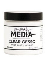Ranger MDM46424 Dina Wakley Media Gesso 4oz Jar, Clear
