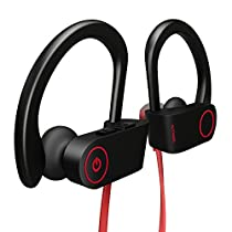 Otium Best Wireless Sports Earphones IPX7 Waterproof HD Stereo Sweatproof In Ear Earbuds for Gym Running Workout 8 Hour Battery Noise Cancelling Headsets