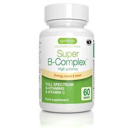 Super B-Complex – High Strength Methylated Vitamin B Complex & Folate (as Quatrefolic), 8 Highly Bioavailable B Vitamins & Vitamin C, Small Tablets