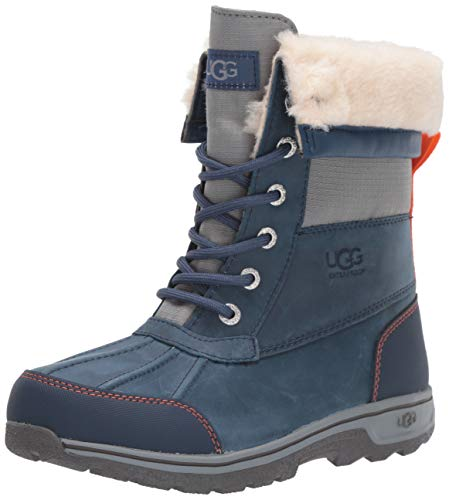 UGG Kids' K Butte II CWR Snow Boot, Ensign Blue, 4 M US Big Kid